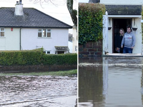 Family 'trapped' by enormous puddle outside their front door