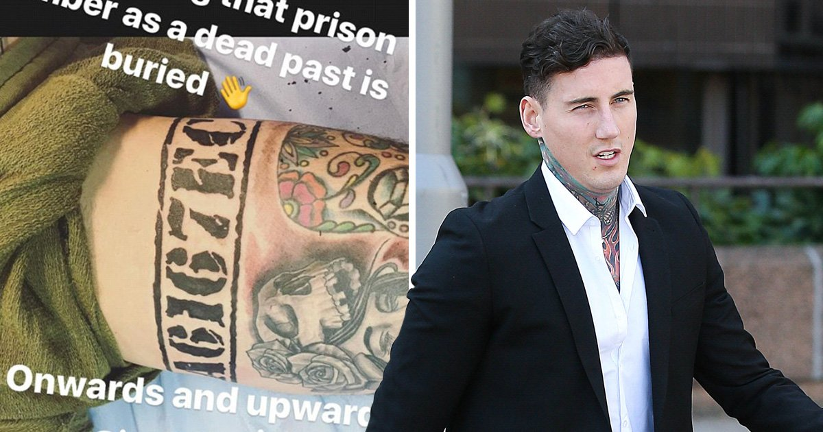 Jeremy McConnell gets prison number 'reminder' tattoo on inside leg after early release from prison