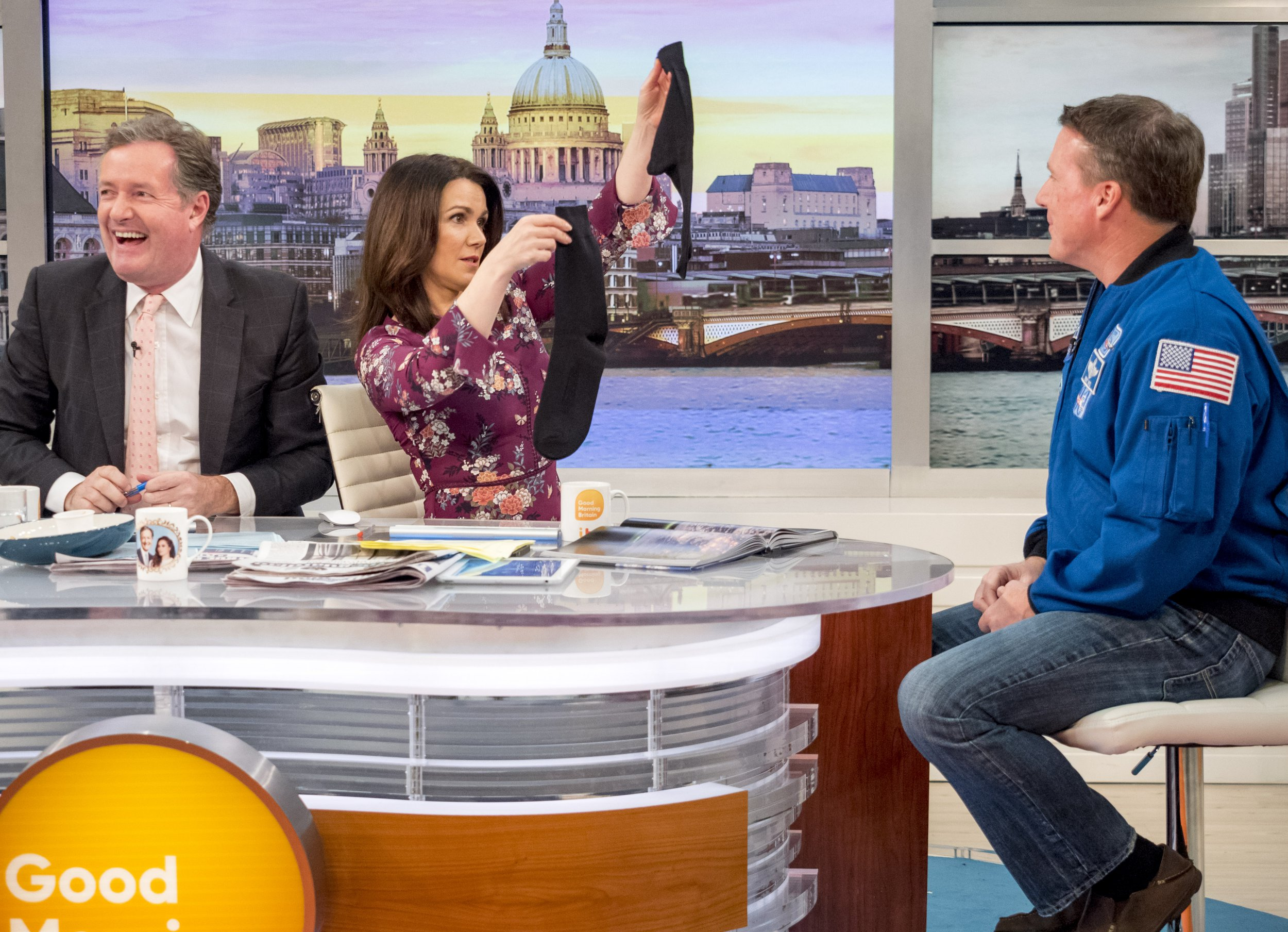 Flat Earth conspiracy theorist gets slapped down by astronaut on Good Morning Britain