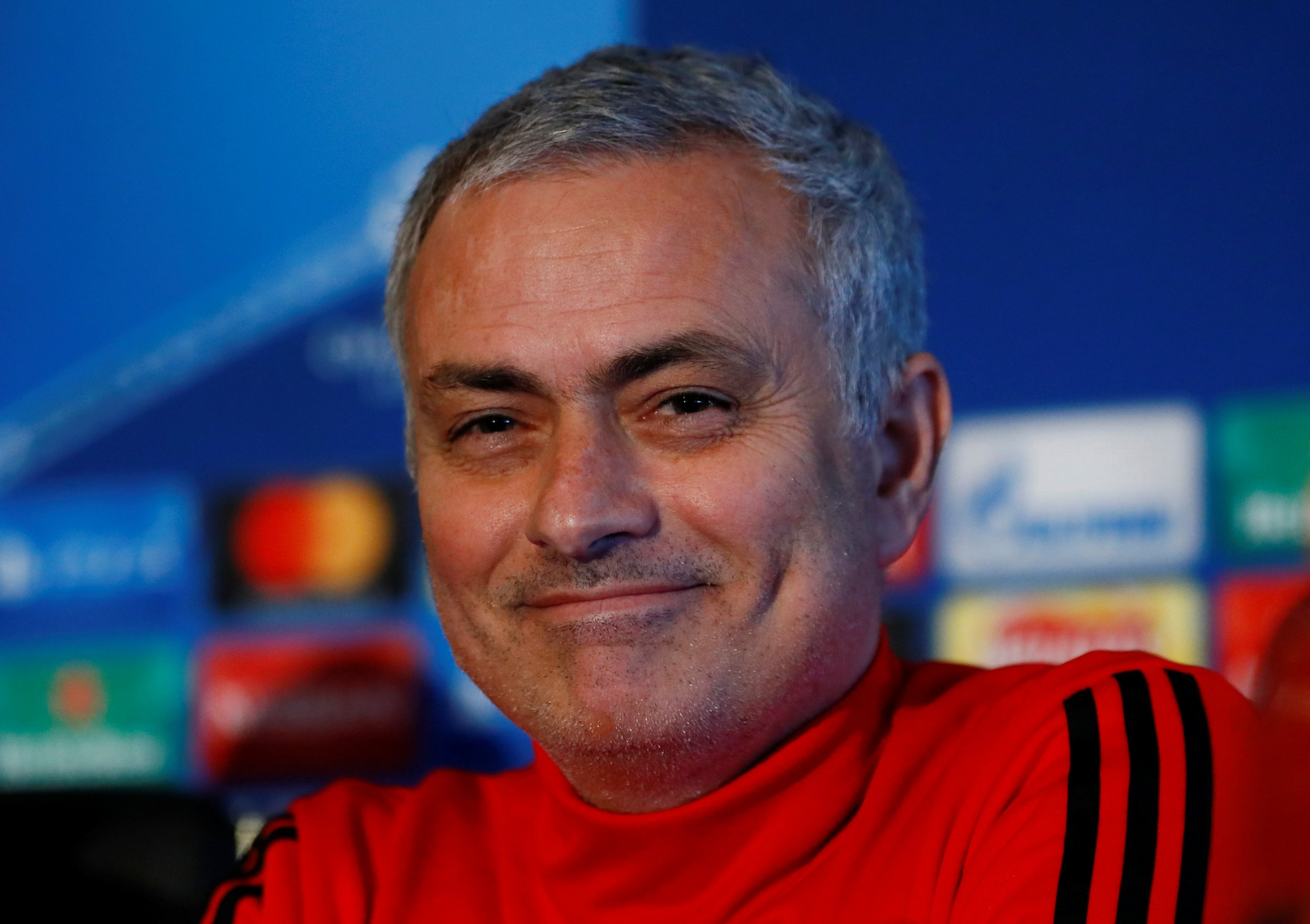 Jose Mourinho smiles in a press conference