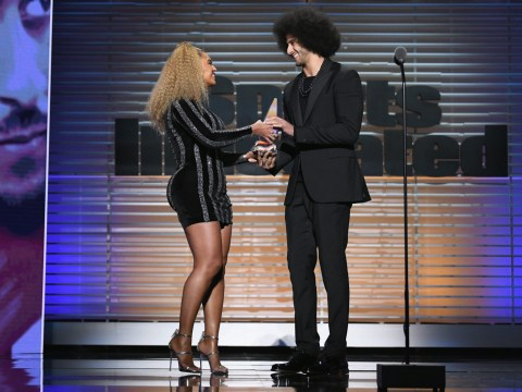 Beyonce presents Colin Kaepernick with Muhammad Ali Legacy Award
