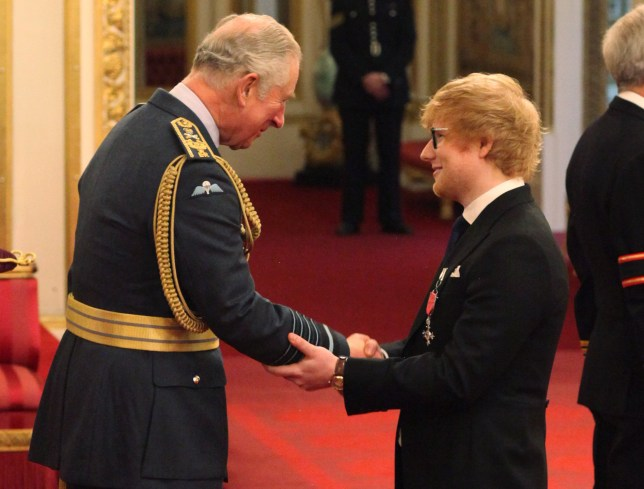 Ed Sheeran MBE awarded by Prince Charles | Metro News