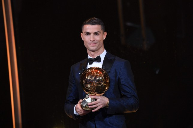Cristiano Ronaldo holds the Ballon d'Or