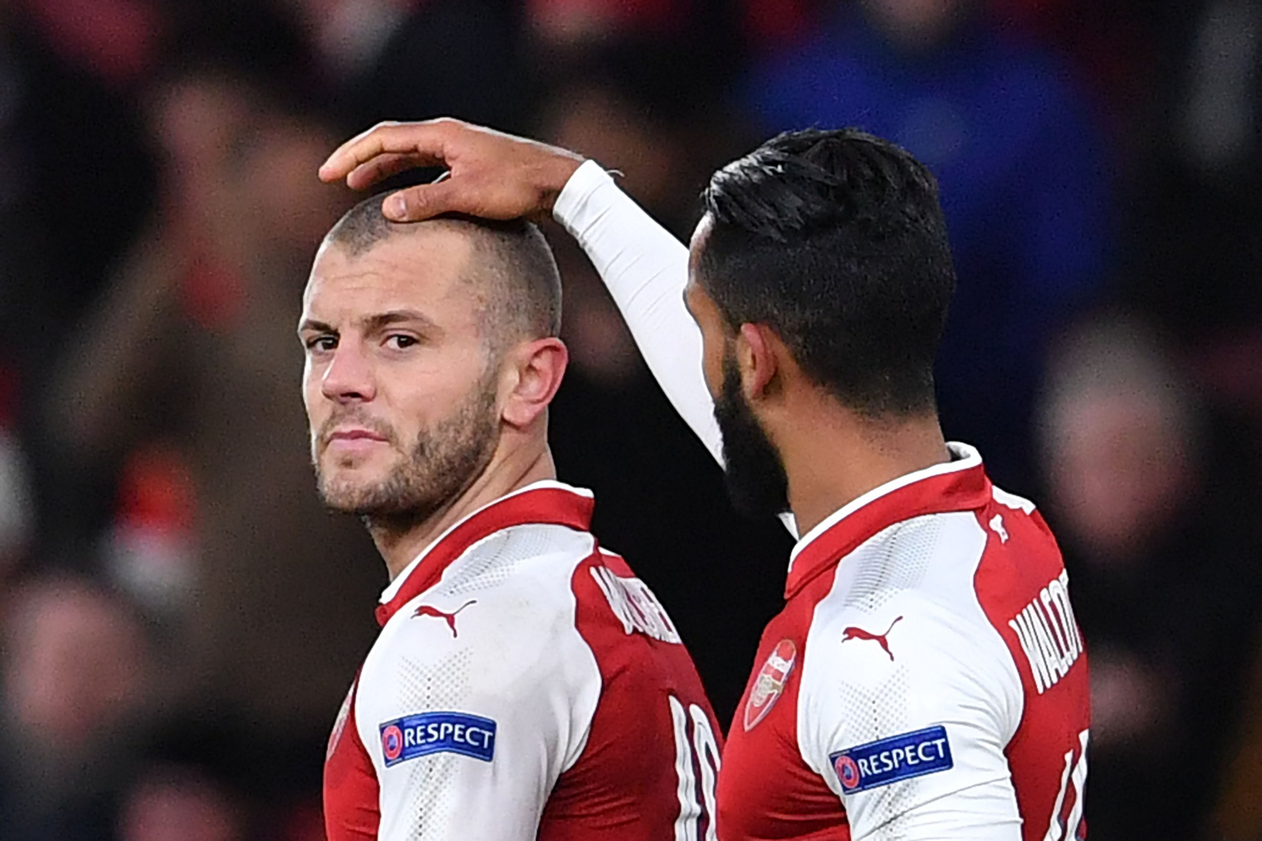 Jack Wilshere takes the praise during Arsenal's Europa League game