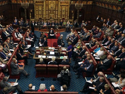 Man arrested after 'shouting' heard during House of Lords debate