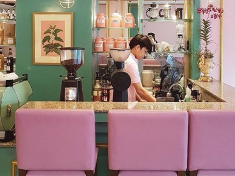 We desperately need to visit this Wes Anderson style cafe