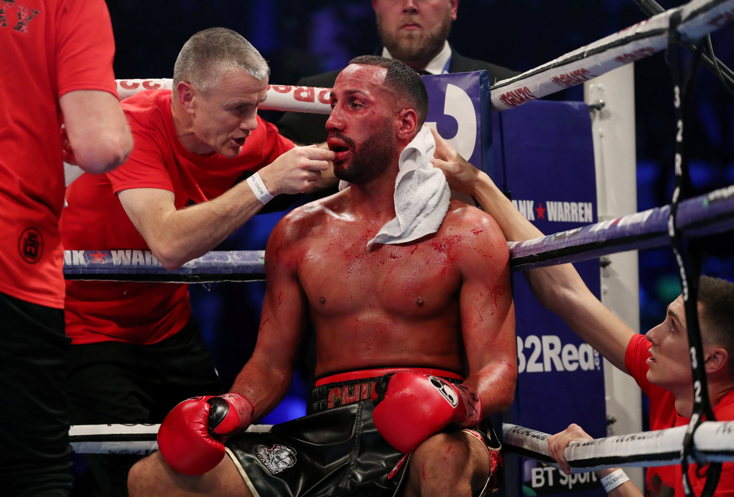Huge underdog Caleb Truax strips James DeGale of his IBF super-middleweight title in London