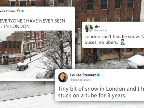 It's snowing in London – and no one can cope