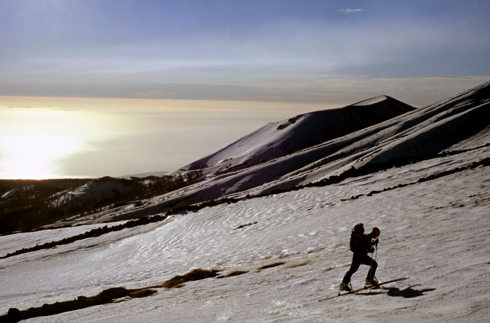 Ascending Etna Mount is all part of the fun of the volcano in winter time (Picture: Getty)