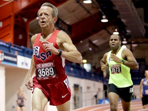 71-year-old sets a world record for indoor running