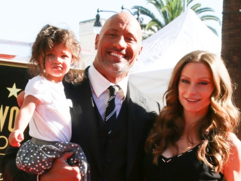 Dwayne Johnson joined by cute daughter as he's honoured with star on Walk Of Fame