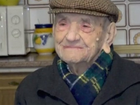 World's oldest man turns 113 and celebrates with a glass of milk