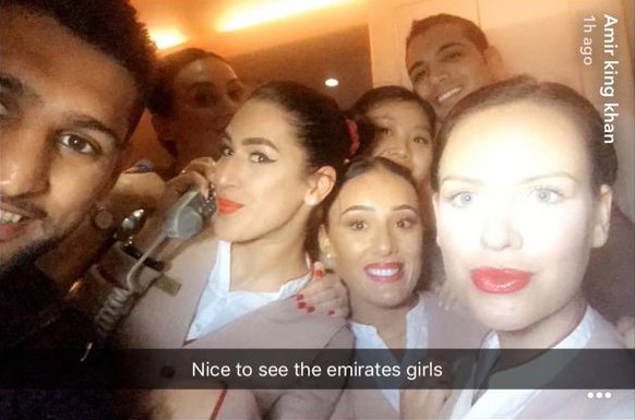 Amir Khan parties with air stewardesses after I'm A Celeb before returning to pregnant wife Faryal