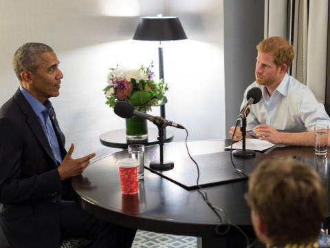 Prince Harry tells Barack Obama he'll give him 'the face' while interviewing him