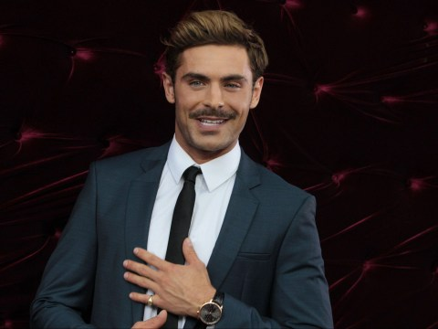 Zac Efron seems to have reached the Ron Burgundy phase of his style evolution