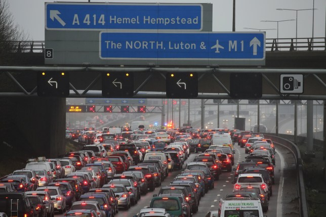 Thousands caught in Christmas delays as crash closes M1
