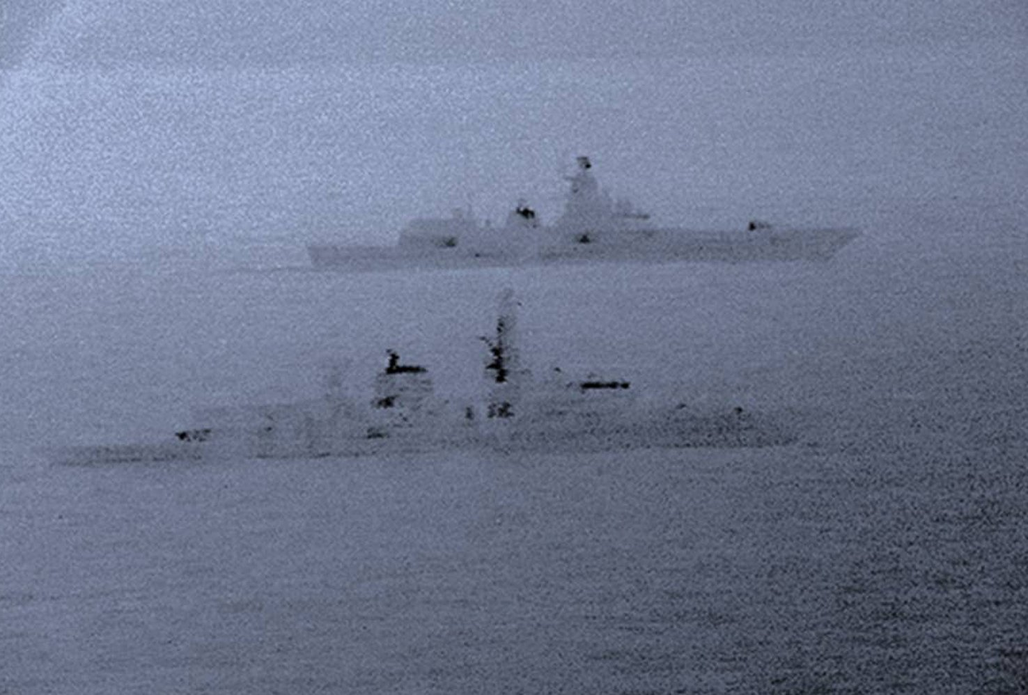 Royal Navy escorts Russian warship away from Britain on Christmas Day