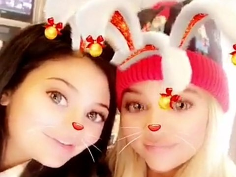 'Pregnant' Kylie Jenner comes out of hiding for festive Snapchat
