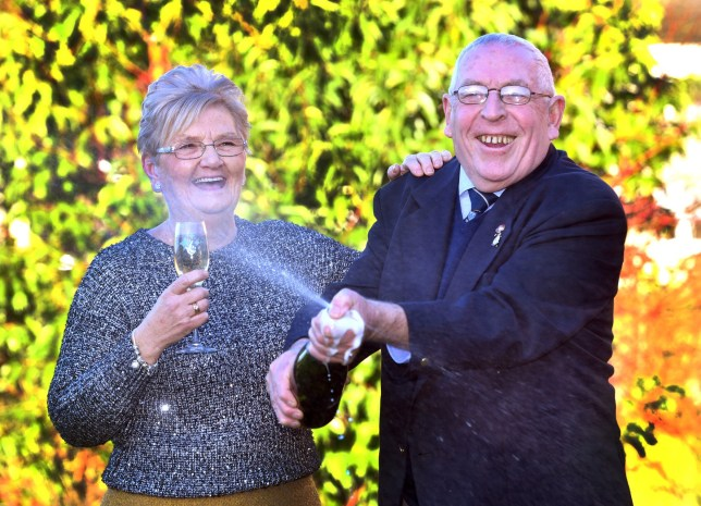 Granddad won £1,000,000 after popping out to buy milk