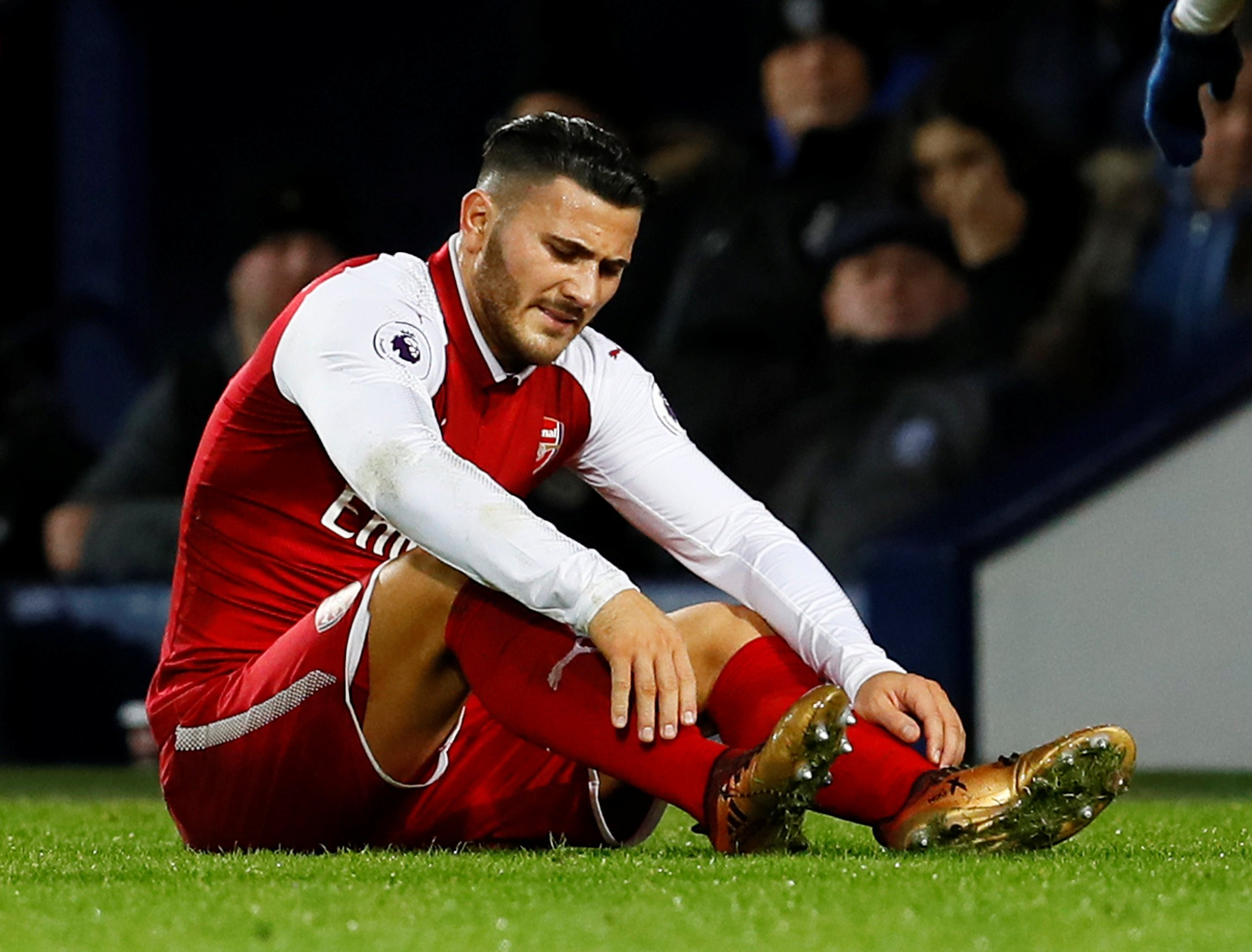 Sead Kolasinac hobbles out of Arsenal clash with West Bromwich ahead of Chelsea contest