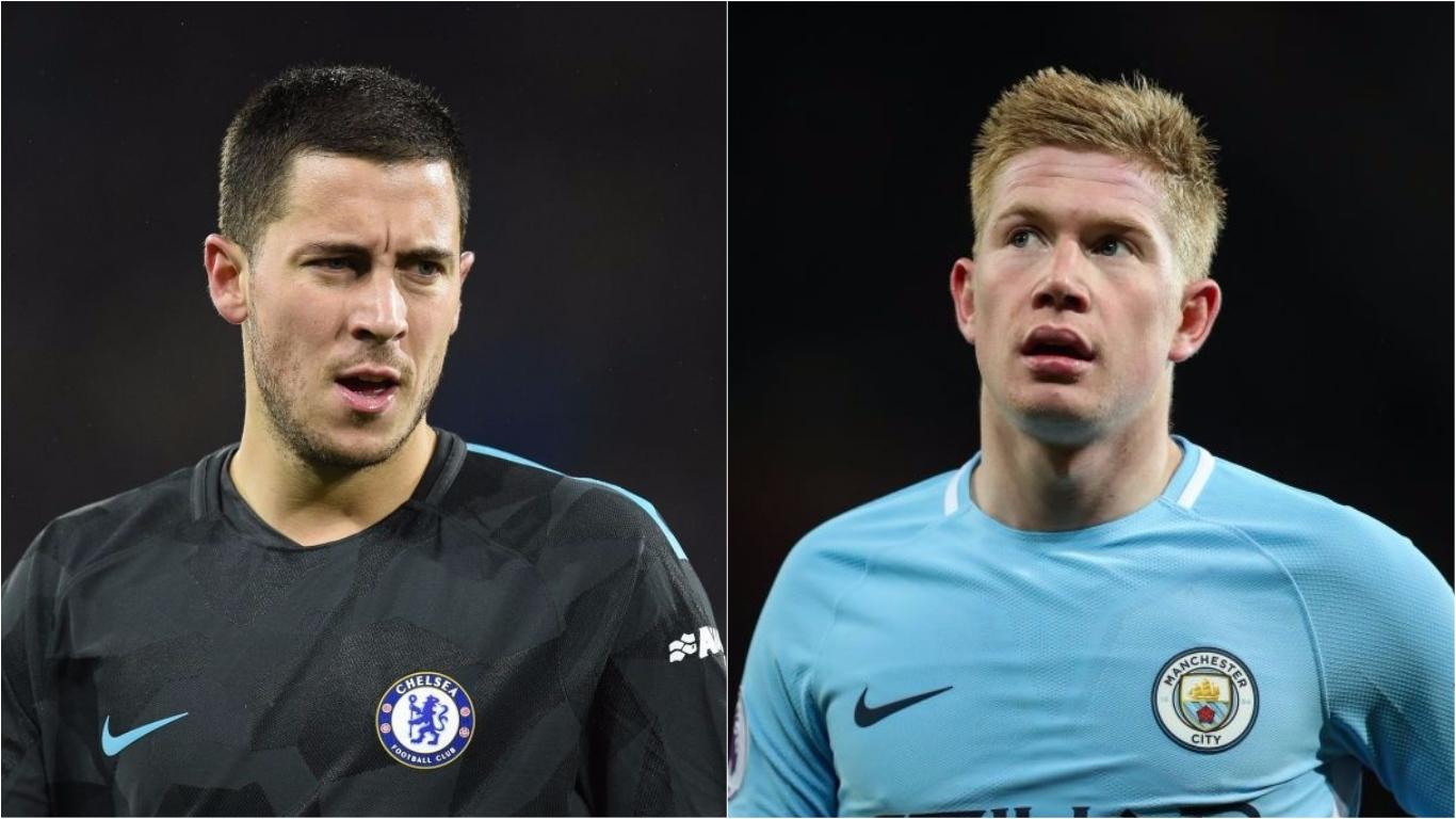 Eden Hazard wants Kevin De Bruyne to win the Premier League – if Chelsea fail to defend title