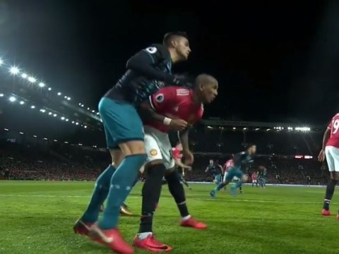 Ban incoming? Manchester United star Ashley Young elbows Southampton's Dusan Tadic