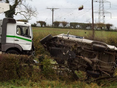Emmerdale spoilers: Are Chrissie, Lawrence, Rebecca and Lachlan dead after that huge lorry crash stunt?