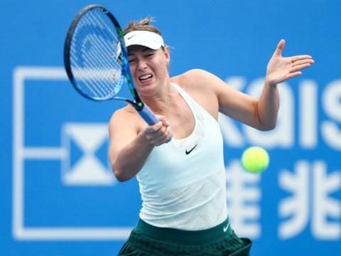 Maria Sharapova crashes out as Katerina Siniakova sets up Simona Halep final in Shenzhen