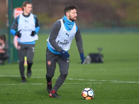 Shkodran Mustafi and Granit Xhaka back in Arsenal training ahead of Chelsea clash