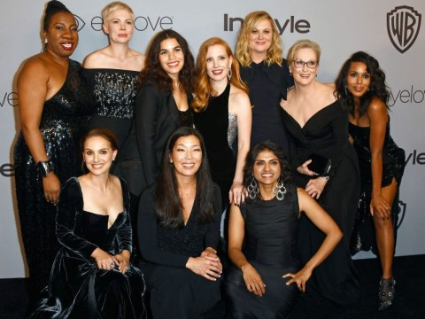 Hollywood's Times Up pioneers posed together for one badass Golden Globes picture
