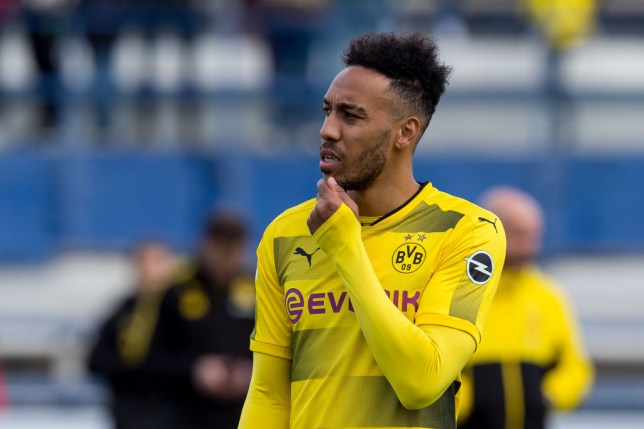 6fe16676015 Pierre-Emerick Aubameyang is being linked with a move to Arsenal (Picture   Getty)
