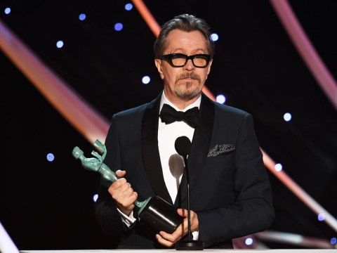 Gary Oldman gives emotional speech as he wins his first SAG award for Darkest Hour