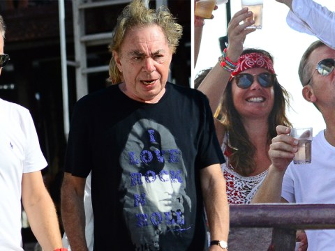 Jeremy Kyle Superstar! Talk show host parties with Andrew Lloyd Webber at yacht party