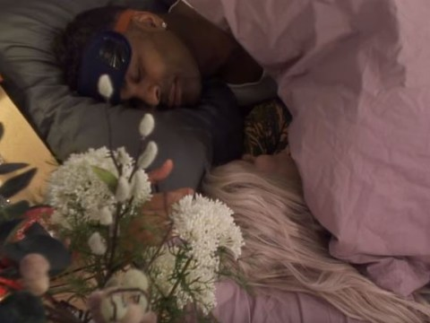 Celebrity Big Brother's Ashley James and Ginuwine confirm romance with a smooch under the covers