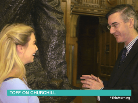 Toff calls Jacob Rees-Mogg 'rather dishy' after apologising for labelling him a 'sex god'