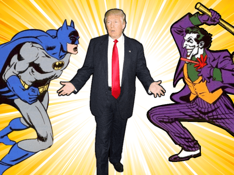 Only Donald Trump could manage to unite 'Batman and his arch-nemesis The Joker'