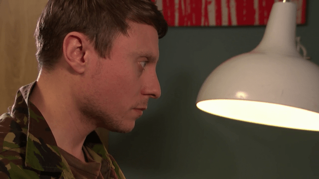Milo spies on Cindy and Alfie in Hollyoaks
