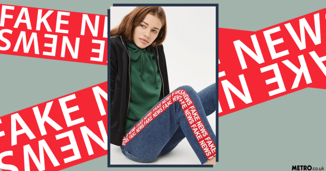 Topshop Fake News jeans