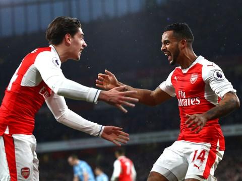 Arsenal defender Hector Bellerin says goodbye to speedster rival Theo Walcott