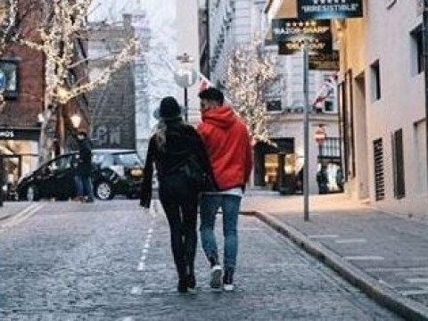 Loved-up Perrie Edwards and boyfriend Alex Oxlade-Chamberlain stroll around London together