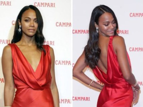 Zoe Saldana dishes out lesson in red carpet glamour at the launch of Campari's short film