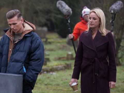 EastEnders spoilers: First look scenes as Mel and Hunter Owen visit Steve's grave