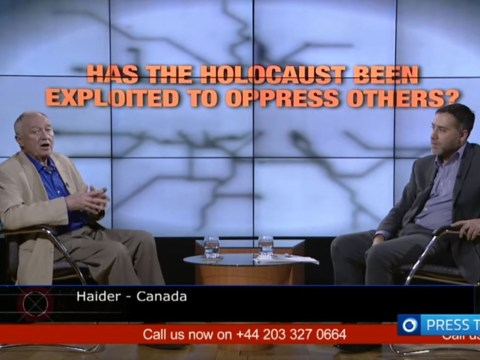 Ken Livingstone went on show titled 'Has the Holocaust been exploited to oppress others?'