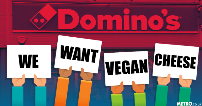 Massive demand for Domino's vegan cheese getty/rex/metro.co.uk