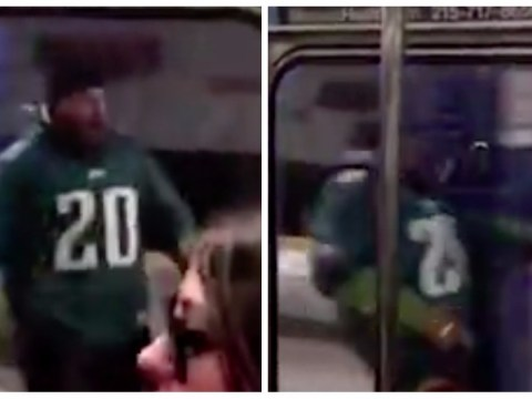 Eagles fan smashes headfirst into beam trying to catch train