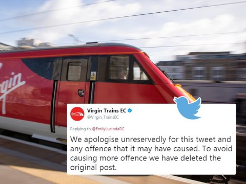 Virgin Trains 'apologise unreservedly' for replying to sexism complaint with sexism