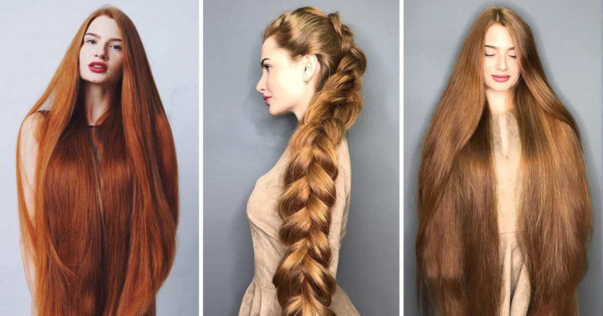 This woman is a real-life Rapunzel whose natural hair is 42 inches long