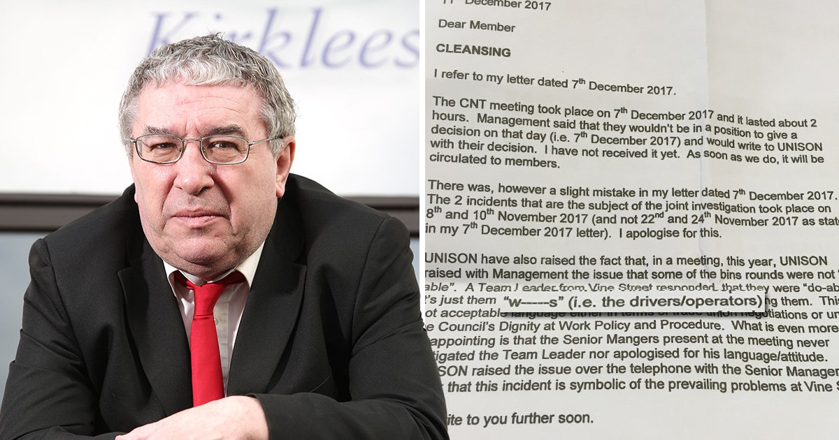 Council team leader called bin crews 'w*nkers' in a meeting