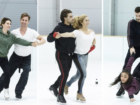 Dancing On Ice's Kem Cetinay, Candice Brown and Jake Quickenden take to their skates for training as they're confirmed to perform first