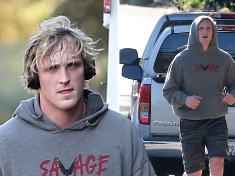 Logan Paul pictured for the first time following 'suicide video' as he returns home